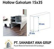 Besi Hollow Galvalum 15x35 mm