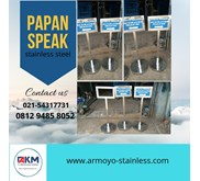 Papan Informasi stainless steel