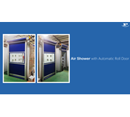 Air Shower with Automatic Roll Door