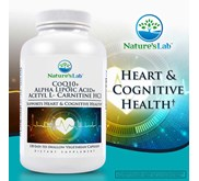 Nature's Lab CoQ10 + Alpha Lipoic Acid + Acetyl L-Carnitine HCl, 120 Vegetarian Capsules.