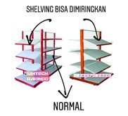Shelving Rak Supermarket Model Miring