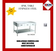 WORKING TABLE WITH DRAWER STAINLESS STEEL
