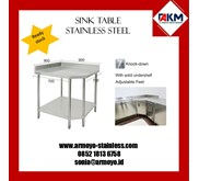 KITCHEN CORNER WORKING TABLE STAINLESS STEEL