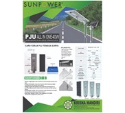 PJU 40 Watt ALL IN ONE System, Solar Cell Lampu PJU ALL IN ONE System