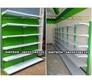 Kemewahan Backmesh dan Backpanel Rak Minimarket