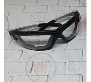 Kacamata safety keren sporty dua fungsi Clear and Smoke lens