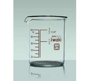IWAKI Glass Ware Measure Cup Without Handle M-CUP100 100ml glassware