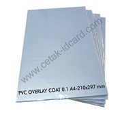 PVC OVERLAY FILM COATED 0.1 mm A4 100 SHEETS /pak