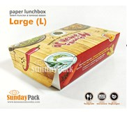 Paper Lunch Box Foodgrade Large