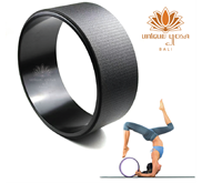 Yoga Wheel Hitam / Black Material TPE ECO Friendly Aksesoris Olahraga / Yoga