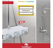 American Standard Easy Set Exposed Bath Shower Set Integrated Rain system