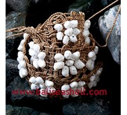 White Shell Belt from Indonesia / Sabuk Kerang Putih Dari Indonesia