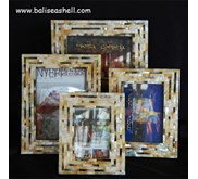 Frame Photo Shell art Crafts Set / Bingkai Foto Kerajinan Kerang Set