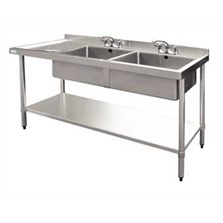 Double Bowl Sink table stainless steel