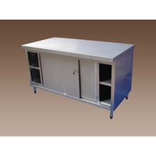 Sliding door Cabinet stainless steel