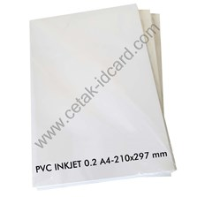 PVC ID CARD  INKJET 0.2 A4-210x297 mm 50 Sheets /pak