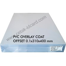 PVC OVERLAY SHEETS COATED OFFSET 0.1 A3-310x400  mm