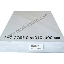 BAHAN ID CARD PVC SHEETS CORE 0.6 mm SABLON
