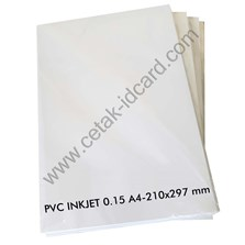 PVC ID CARD  INKJET 0.15 A4-210x297 mm 50 Sheets /pak