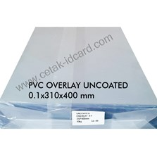 PVC OVERLAY SHEETS UNCOATED 0.1 A3-310x400 mm