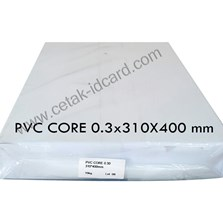 BAHAN ID CARD PVC SHEETS CORE OFFSET 0.3-310X400 mm