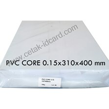 BAHAN ID CARD PVC SHEETS CORE OFFSET 0.15 A3-310x400 mm