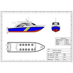 SPEED BOAT V-10 METER