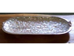 Jual bowl big astry oval with silver