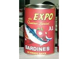 Jual Canned Sardines In Tomato / Chili Sauce EXPO Brand 155g/425g