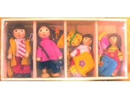 Doll Changing Clothes/ Boneka Kayu Ganti Baju