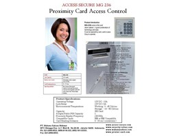 Jual ACCESS SECURE MG 236 Proximity Card Access Control System