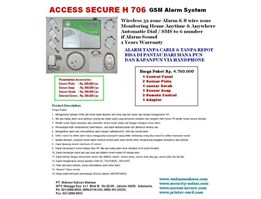 Jual ALARM Wireless GSM System ; ACCESS SECURE H706