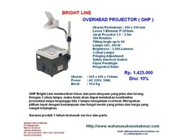 Jual OHP Overhead Projector BRIGHT LINE