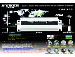 Jual SYBER sma-233 GSM Repeater and Booster / Penguat Sinyal Sellular / HP ( Telkomsel, Indosat, Pro XL)