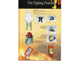 Jual FIRE FIGHTING PROTECTION : NINE-ELEVEN HEAT ISOLATED FIREMANS SUIT, SCBA-6,8 LTR COMPOSITE CYLINDER, SCBA-5LTR STEEL CYLINDER, FIREMAN HELMET - 8911, 9.11 FIRE EXTINGUISHER, FIRE BLANKET