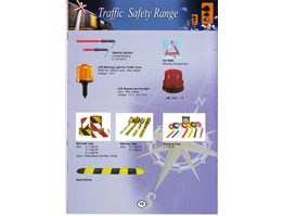 TRAFFIC SAFETY RANGE : TRAFFIC BATON, LED WARNING LIGHT FOR TRAFFIC CONE, PS - TW02, LED MAGNET WARNING LIGHT, JN 331 - 1, BARICADE TAPE, WARNING TAPE, FLAGGING TAPE, & SPEED BUMP )