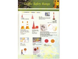 TRAFFIC SAFETY RANGE : FOLDABLE CONE BAR, SCP - 200, TRAFFIC CONE, FOLDABLE CONE, T - BOLLARD, INDOOR CONVEX MIRROR, OUTDOOR CONVEX MIRROR, J - 207, ZJ - GB76, J - 106, JN 220, JN 221