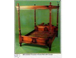 BH 025/024 Victorian $poster Bed with Canopy