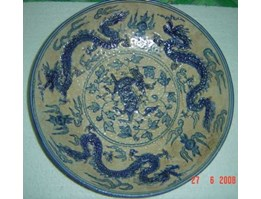 Jual YUAN porcelain plate antique from china TO SELL