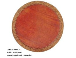 Jual wooden Placemats round