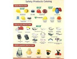 SAFETY HELMET. GLOVES, EAR PROTECTION, EYE PROTECTION, CONVEX MIRROR, FIRE ALARM, WEARPACK, INSPECTION MIRROR, TRAFFIC BUTTON LIGHT, DLL