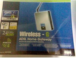 Jual WAG200G>> LINKSYS MODEM ADSL WIFI + ROUTER 4 PORT