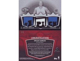 2007-08 Topps Triple Threads Relics Printing Plates Black # NNO Dwight Howard Print 1