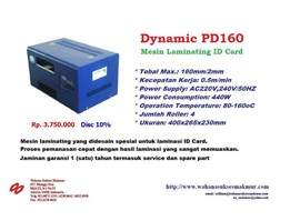 Mesin Laminating ; DYNAMIC 160PD Laminating ID Card