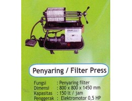 MESIN PENYARING / FILTER PRESS VCO