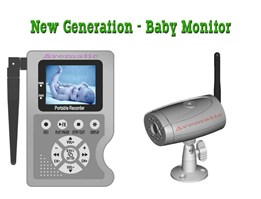New Generation - Wireless Baby Monitor H.264 with Recorder 2GB