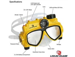 Liquid Image Explorer 302 5MP Underwater Digital Camera Diving Mask / kamera tahan air / perekam dalam air / alat rekam dalam air / alat selam / kacamata perekam