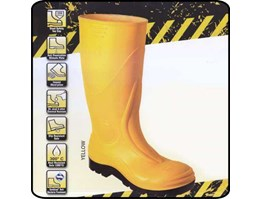 Jual SAFETY SHOES BOOT PVC AP WITH STEEL MID SOLE S3 YL