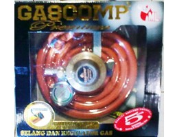 Selang Gas Regulator + meter Gascomp Premium