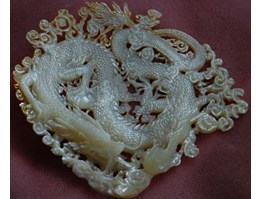 Jual mother of pearl carving art indonesia